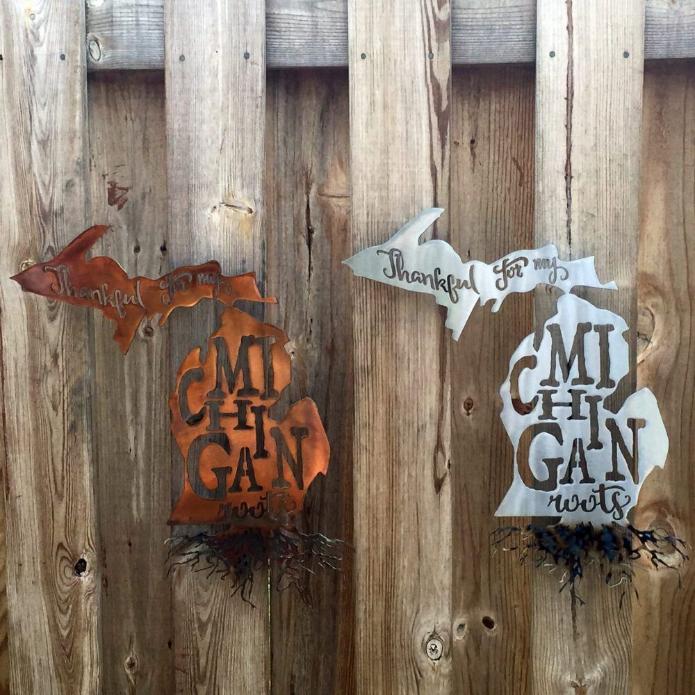 thankful for my michigan roots metal wall art wall art on metal wall art id=23221