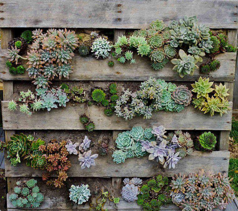 Fabriquer une jardini re bois palette diy jardin vertical - Fabriquer une jardiniere en bois de palette ...