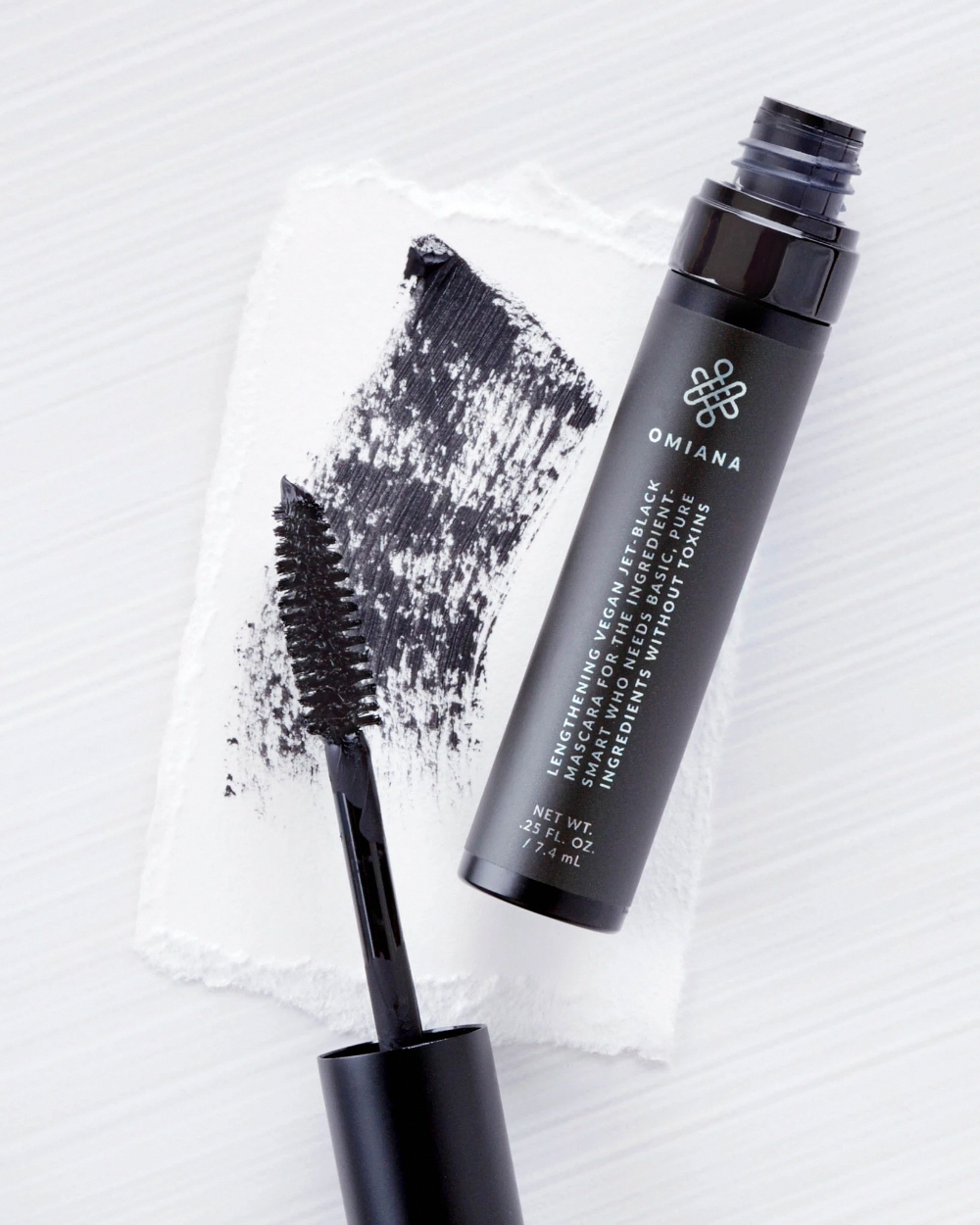 Vegan Black Lengthening Mascara No Mica, Titanium