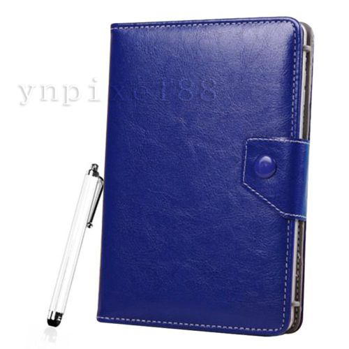 "Dark Blue 8"" Universal PU Leather Magnetic Case Cover For Most 8 Inch Tablet PC"