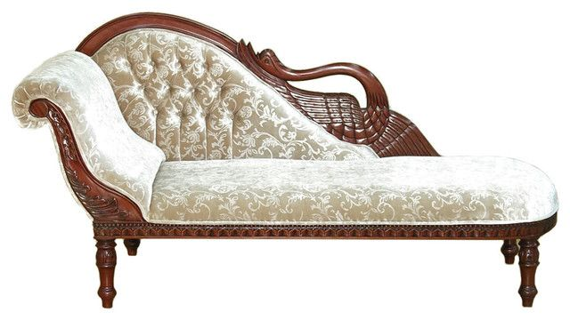 terrific victorian chaise lounge solid mahogany cherry swan chaise