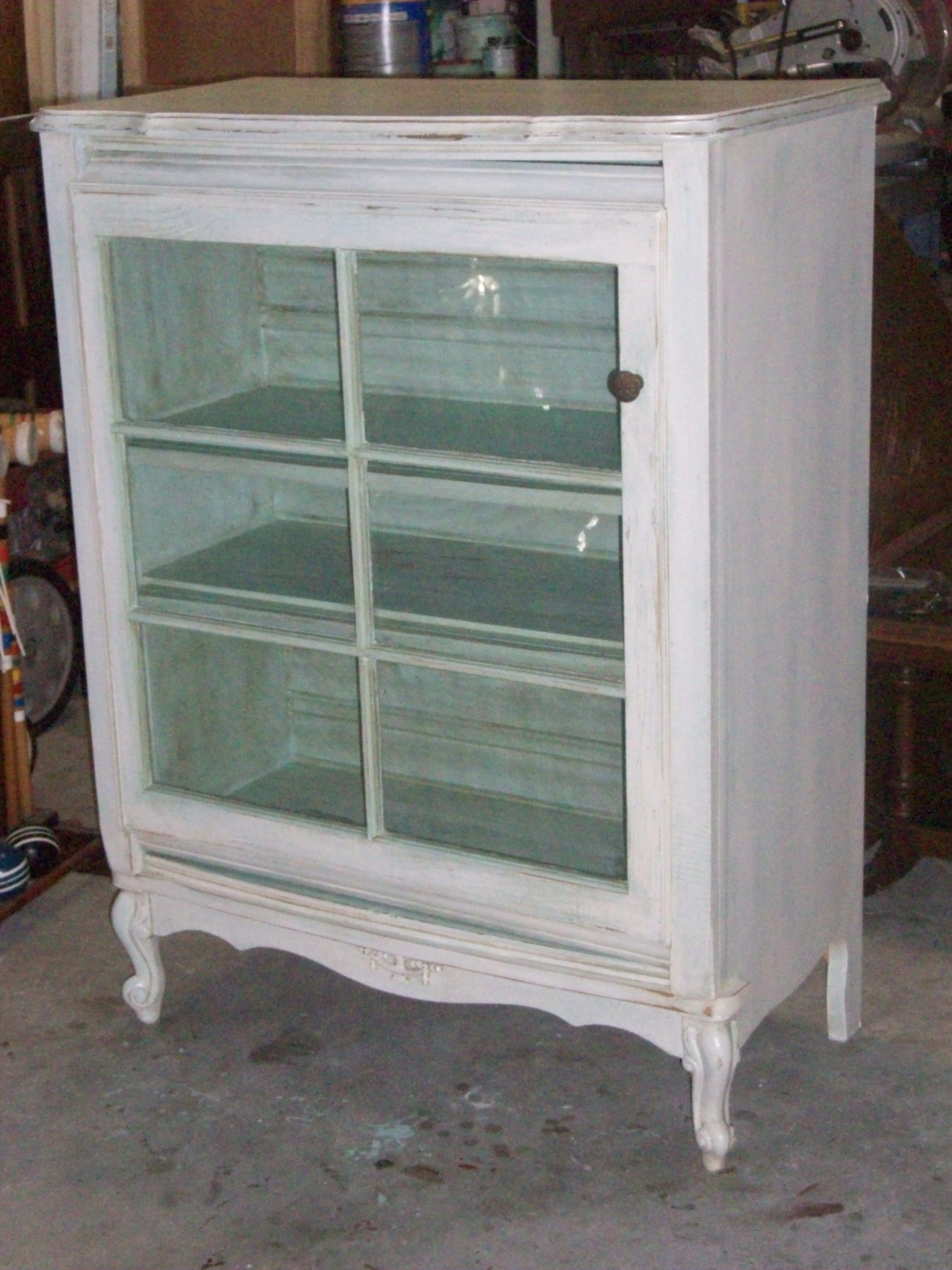 Dresser With Cabinet Dresser Turned Into Curio Cabinet The Door Is An Old Window