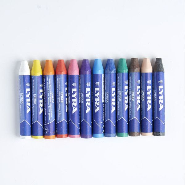 Lyra Lyrax Wax Giant Crayons Are Non Water Soluble And Contain