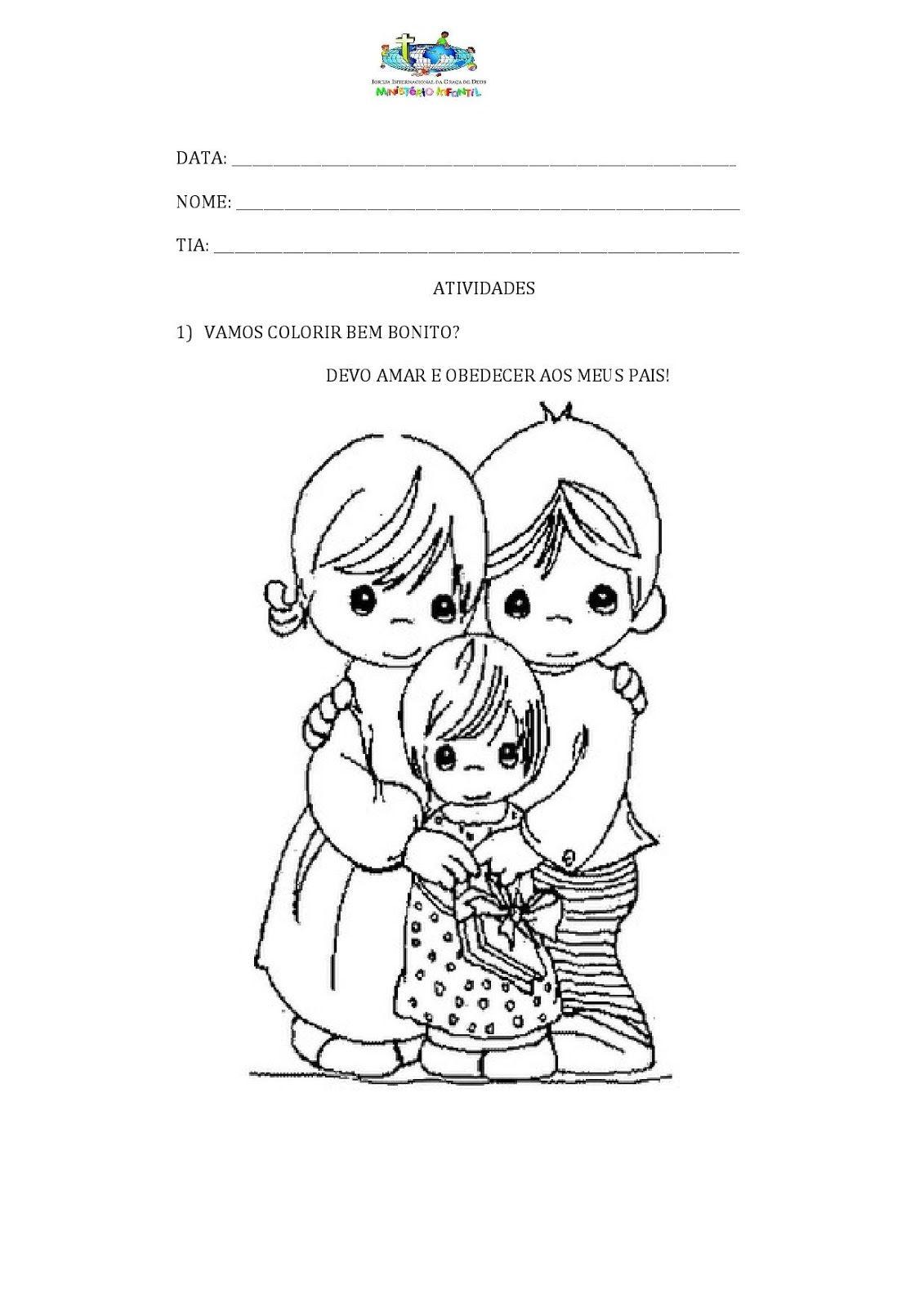Escola Biblica Infantil Obediencia Aos Pais