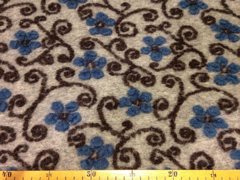 Stoff Blumen - Hilco Sondrio Blumen Wollstoff - ein Designerstück von Siebenpuenktchens-Stoffwelt bei DaWanda
