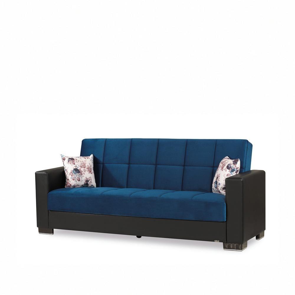 Ottomanson Armada Emerald Blue Fabric Upholstery Sofa Sleeper Bed With Storage Sofa Upholstery Sofa Bed Storage