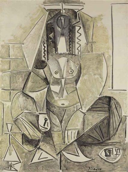 Pablo Picasso, Les femmes d'Alger, version L, 1955 🏵🌀💠🔹Pablo Picasso : More At FOSTERGINGER @ Pinterest 🔹💠🌀🏵