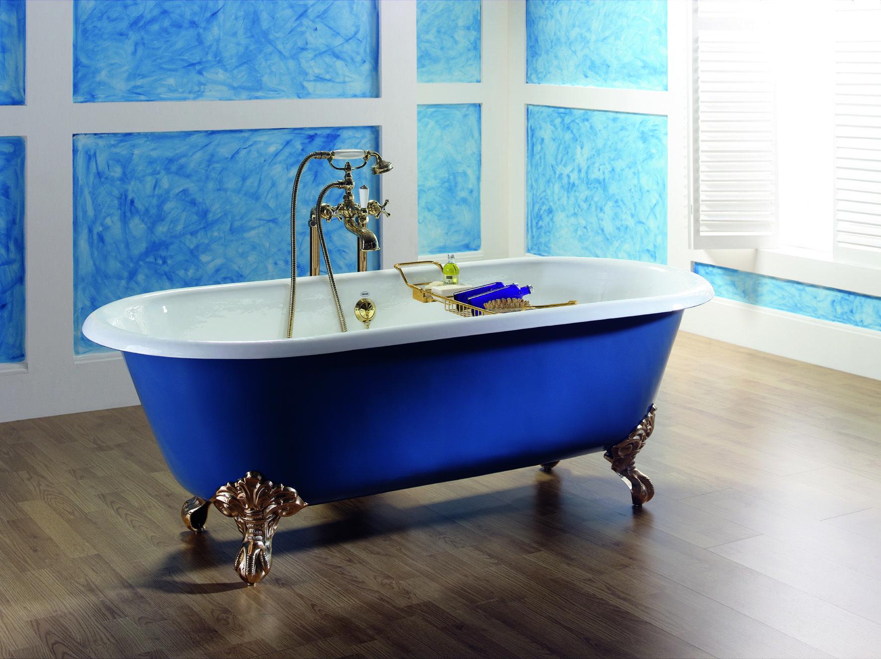 Verniciare Vasca Da Bagno Ghisa : Vasca da bagno centro stanza in ghisa chÉrie devon devon