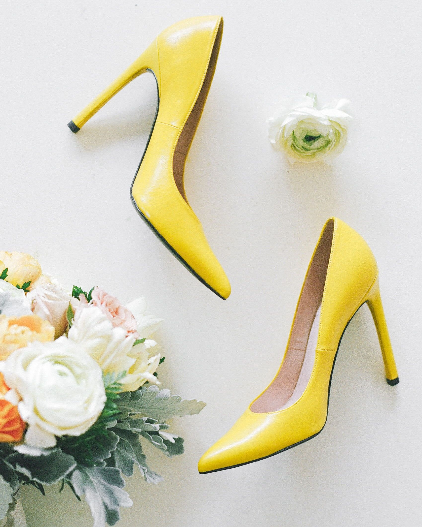 24 Yellow Wedding Ideas That Will Make Your Day Bright And Cheery Yellow Wedding Shoes Yellow Wedding Yellow Heels Wedding