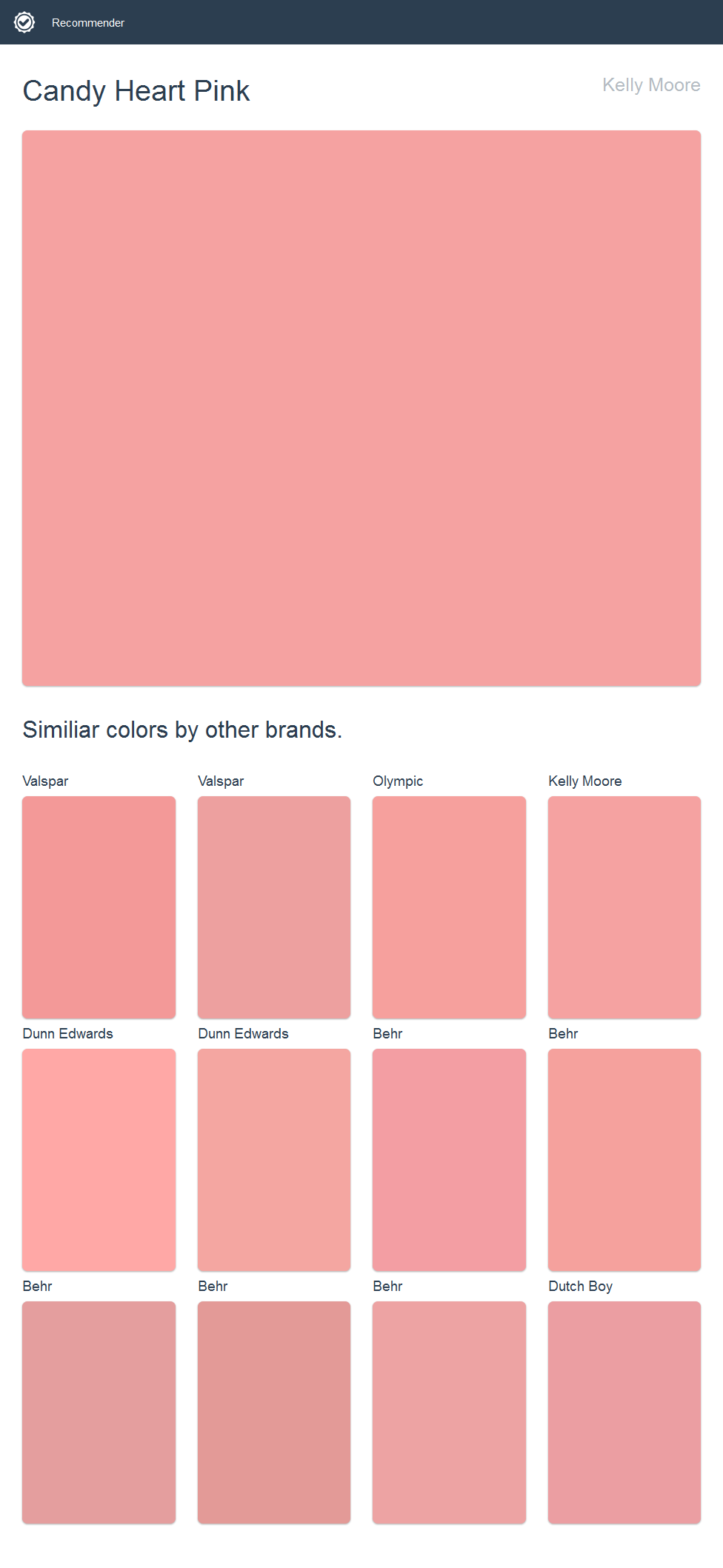 Candy Heart Pink, Kelly Moore. Click the image to see similiar ...