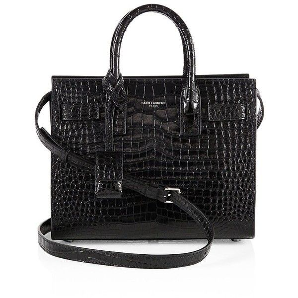 40d3b62536e Saint Laurent Handbags · Saint Laurant · Saint Laurent Nano Sac De Jour Croc -Embossed Leather Tote ($2,290) ❤ liked