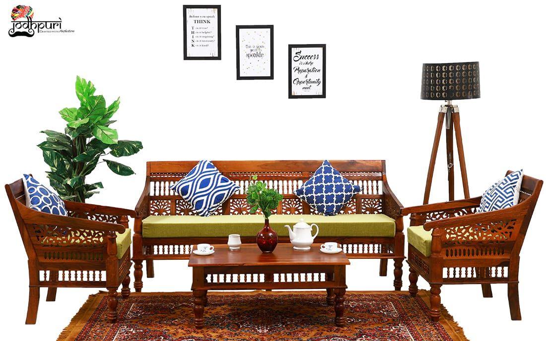 Looking For Ruby Sofa Set In Bangalore Buy From Jodhpuri Furniture Shop Jodhpuri Furniture People Uses Sh In 2020 Wooden Sofa Set Sheesham Wood Furniture Wood Sofa