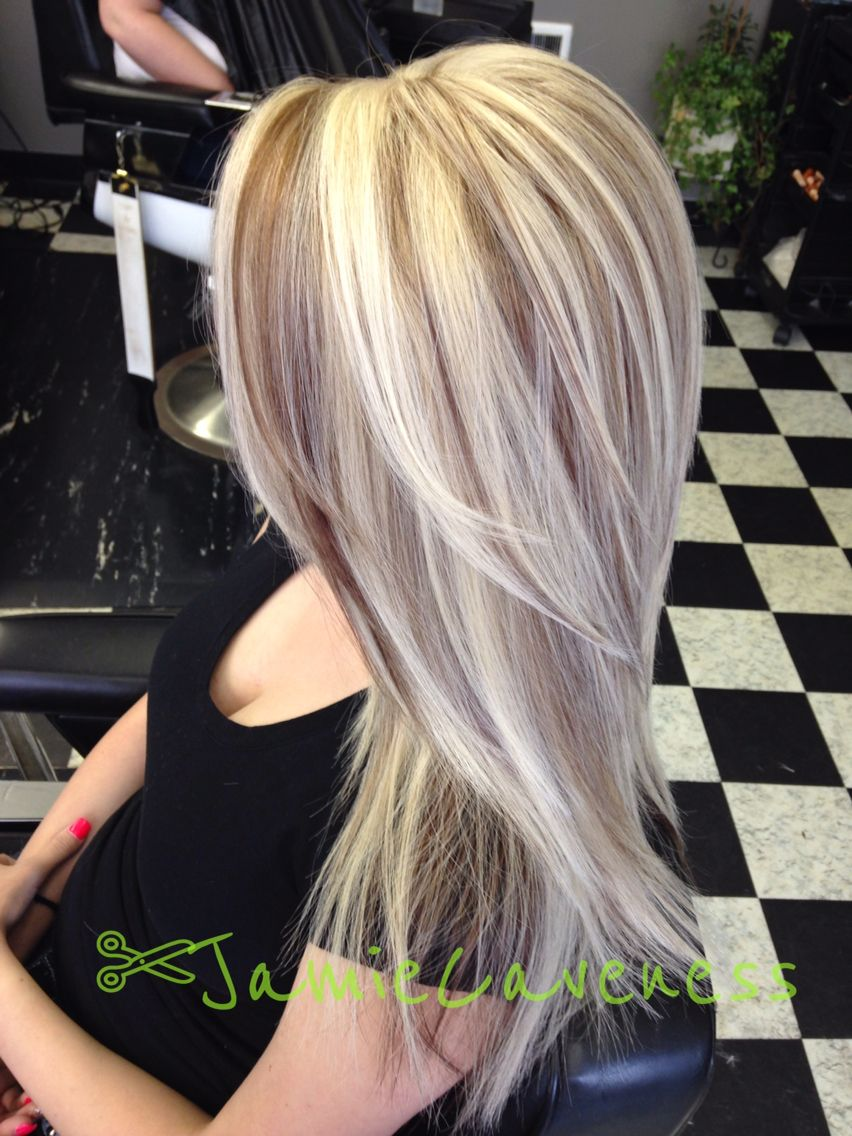 Gs old school chunky blonde highlights my work pinterest beautiful long hair with blonde highlights and brown lowlights foiled by jamie magic shears in pmusecretfo Choice Image