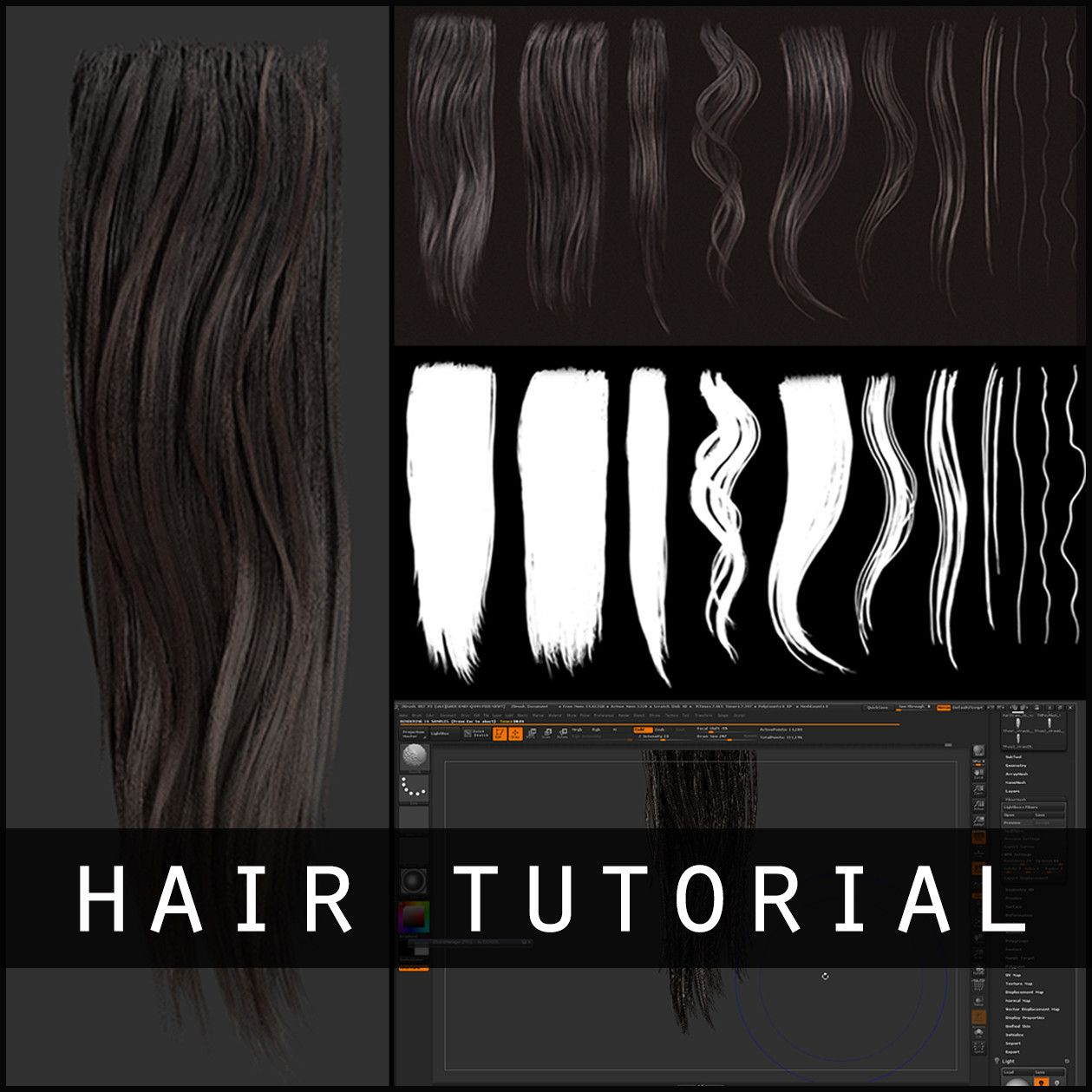 Hair Texture Diffuse & Alpha Tutorial, mike svymbersky on ArtStation ...