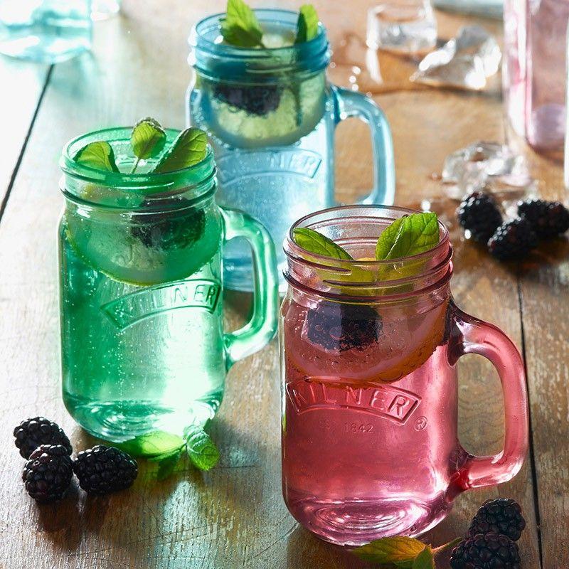 Kilner Trinkglas in 3 Farben