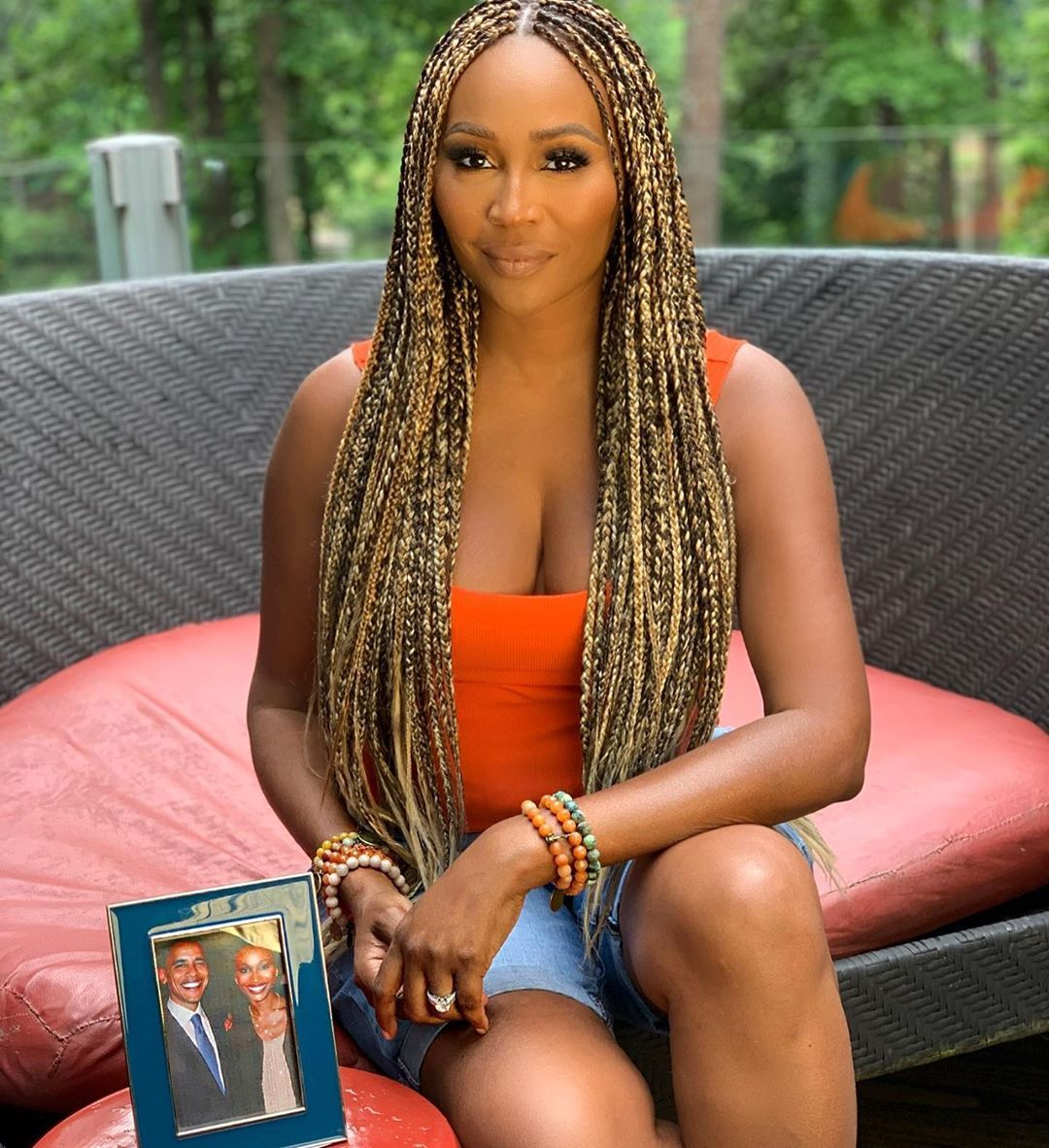 Cynthia Bailey On Instagram Change Will Not Come If We Wait For Some Other Person Or Some Other Cynthia Bailey Box Braids Hairstyles Black Women Hairstyles