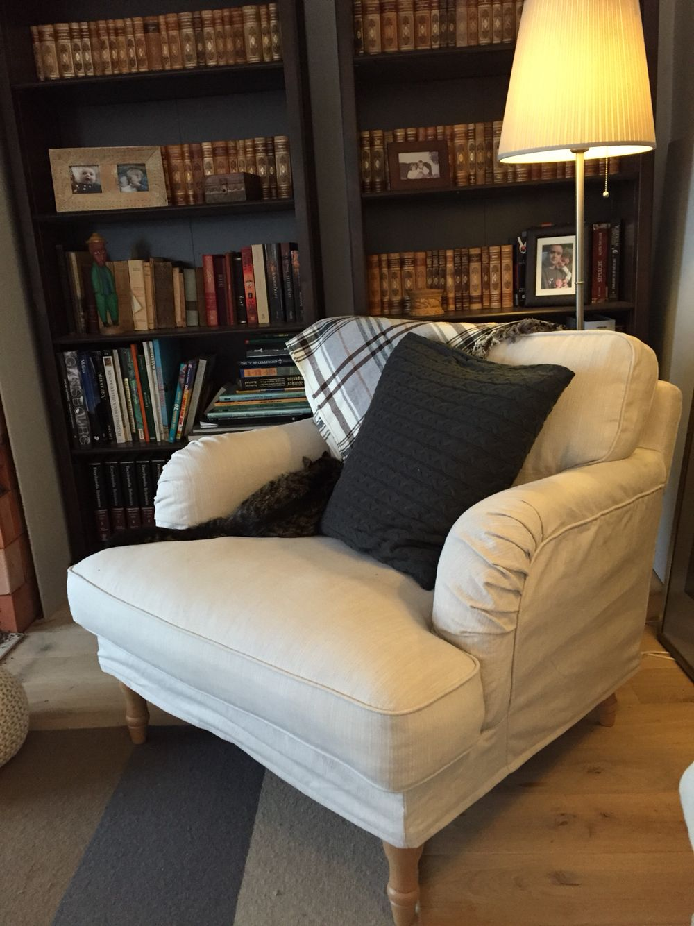 Ikea Stocksund chair, want! With a comfy footstool. Love ...