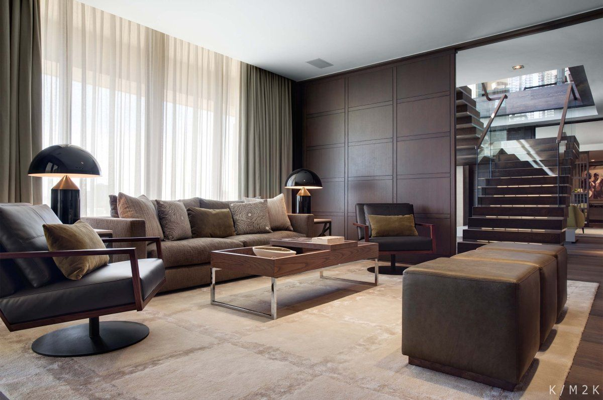 elegant penthouse apartment 1 by keith interior design m2k architecture 6 - Elegant Interior Design