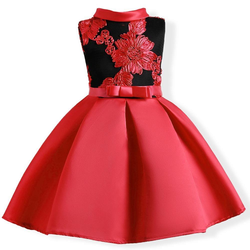 Girls dress summer wedding dresses children bowknot party dresses