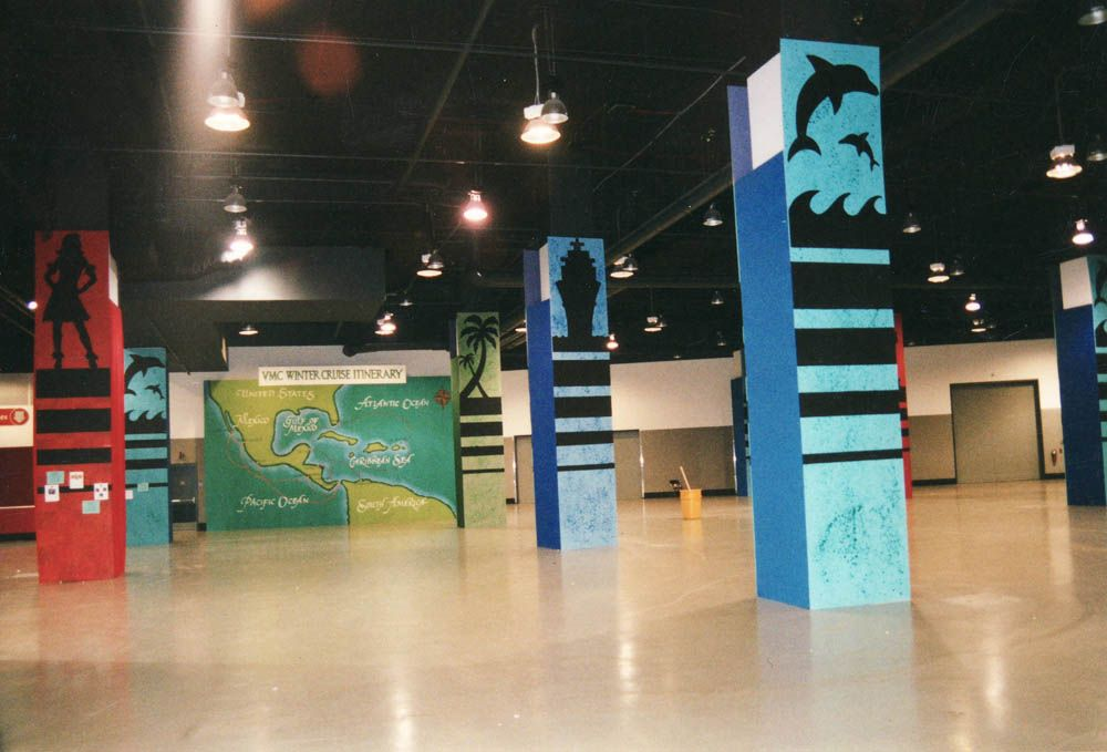 Trade Show Column Wrapping Show Floor Column Wraps Column Trade Show