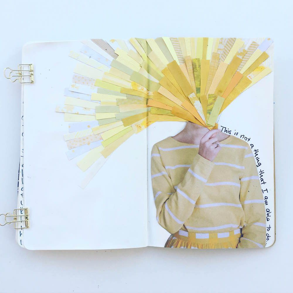 @mama_finch_ This is not a thing I am able to do | Yellow | Collage | Season of Words | Get Messy Art Journal