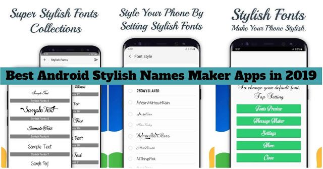 5 Best Android Stylish Names Maker Apps in 2019 Name