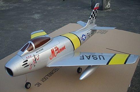 The F-86 Sebra is another new member to the styrofoam EDF jet model