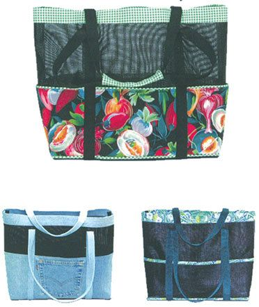 Beach Bag Tote Bag Pattern Diaper Bag Pattern ReUseable Grocery ...