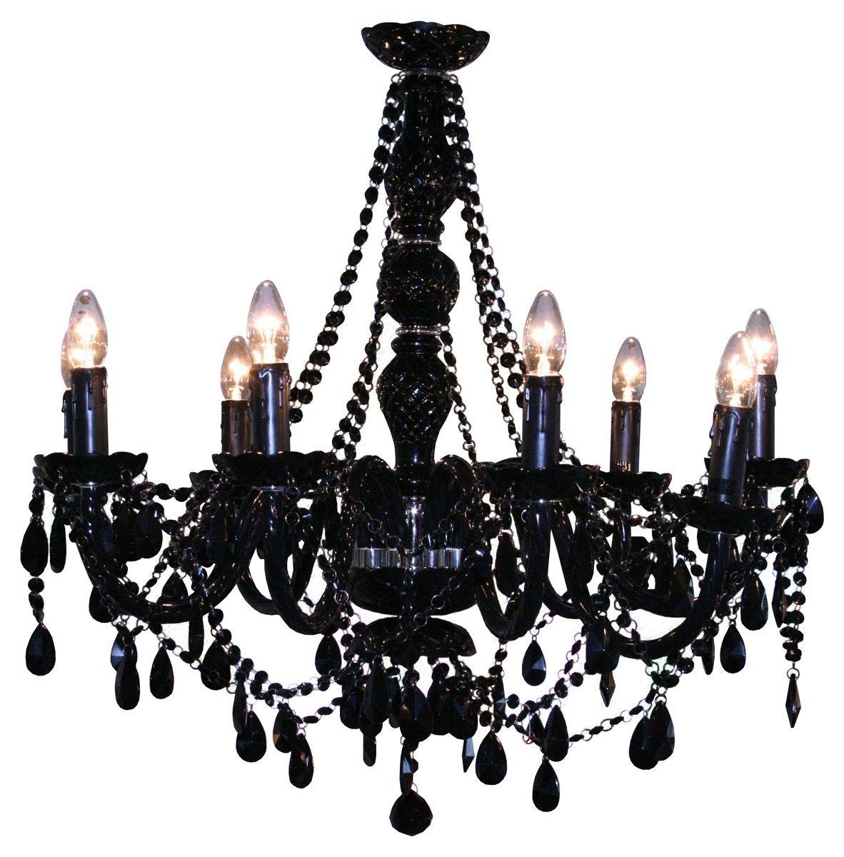 9 Light Crystal Chandelier Black And Red Chandeliers Glass Chandelier Candle Style Chandelier Black Chandelier