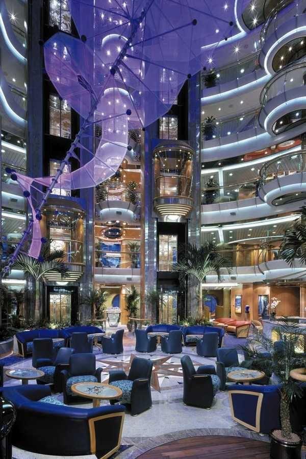 Main Atrium On The Brilliance Of The Seas Cruise Ships Interior Cruise Ship Royal Caribbean Cruise Ship