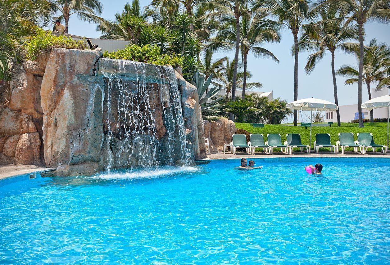 Take the family to the mayan palace pool at vidanta