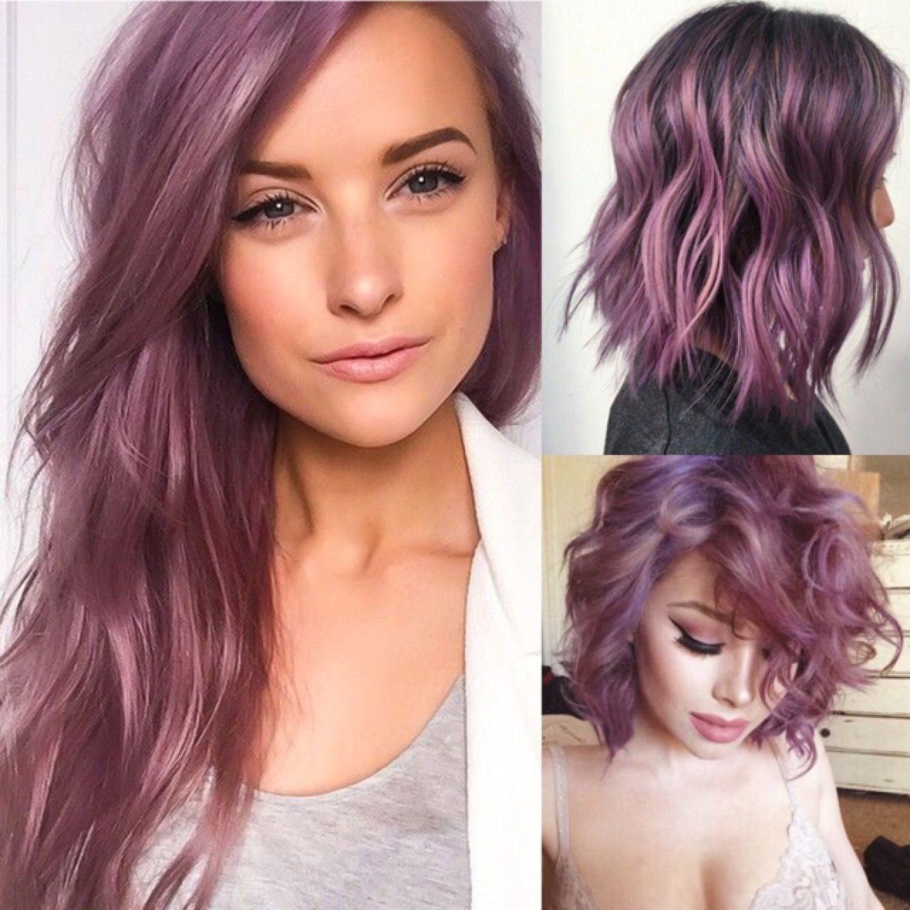 Smokey rose purple mauve hair color bobbing pinterest mauve