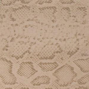 Tissu simili cuir croco avec motif serpent – Beige / Marron x50 cm   – Les Nouveautés Perles & Co