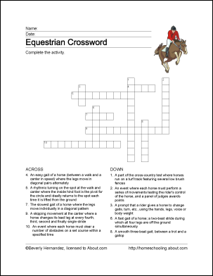 Tennis Wordsearch, Crossword Puzzle, and More | Horse ...
