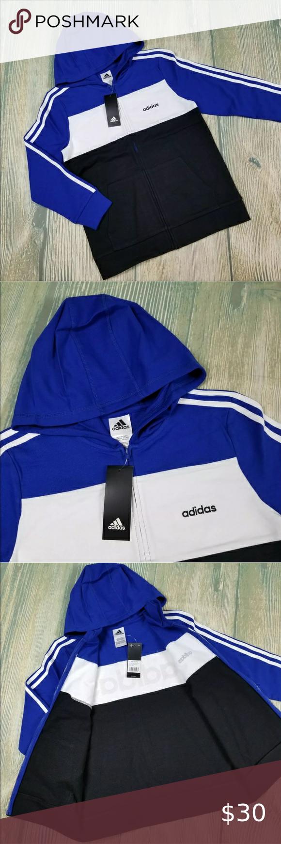 Adidas Big Boy S Colorblock Hoodie Sweatshirt Nwt In 2020 Sweatshirts Hoodie Clothes Design Plus Fashion [ 1740 x 580 Pixel ]