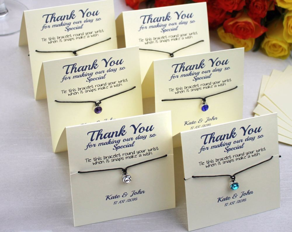 Personalised Luxury Wedding Favour Guest Gift - Friendship Bracelet ...