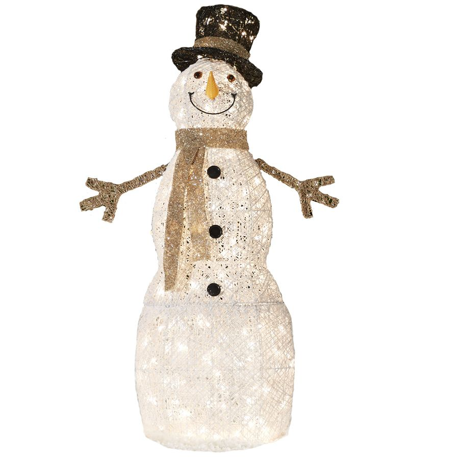 Shop Holiday Living Lighted Snowman Outdoor Christmas Decoration With White Incandescent Outdoor Lighted Snowman Outdoor Christmas Decorations Outdoor Snowman