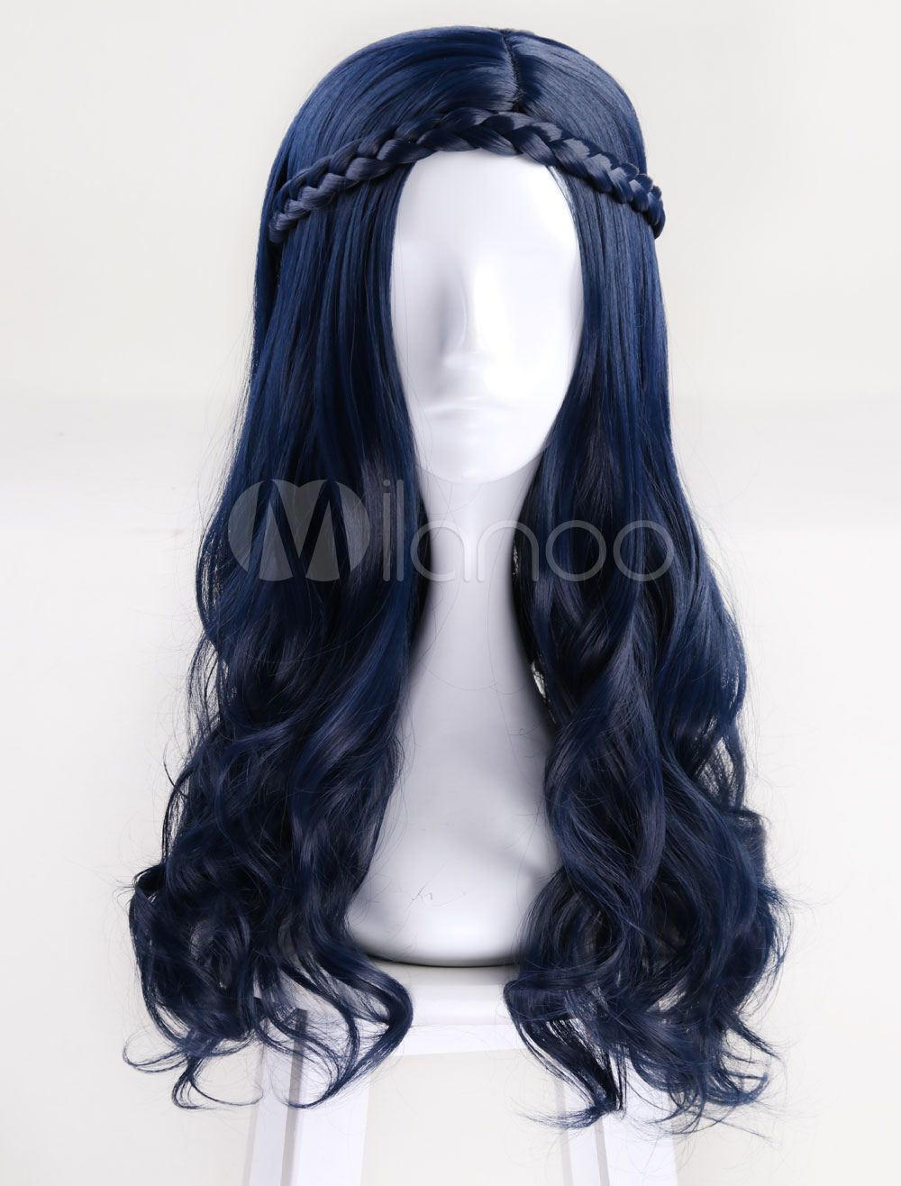 Descendants 2 Evie Kids Cosplay Wig Long Wavy Blue Child Fashion Costume Party