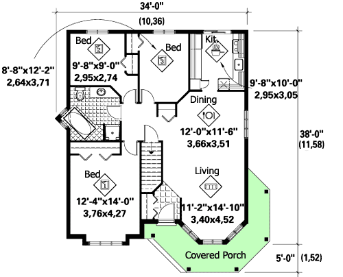 Compact Victorian with WrapAround Porch  80704PM  Architectural Designs  House Plans