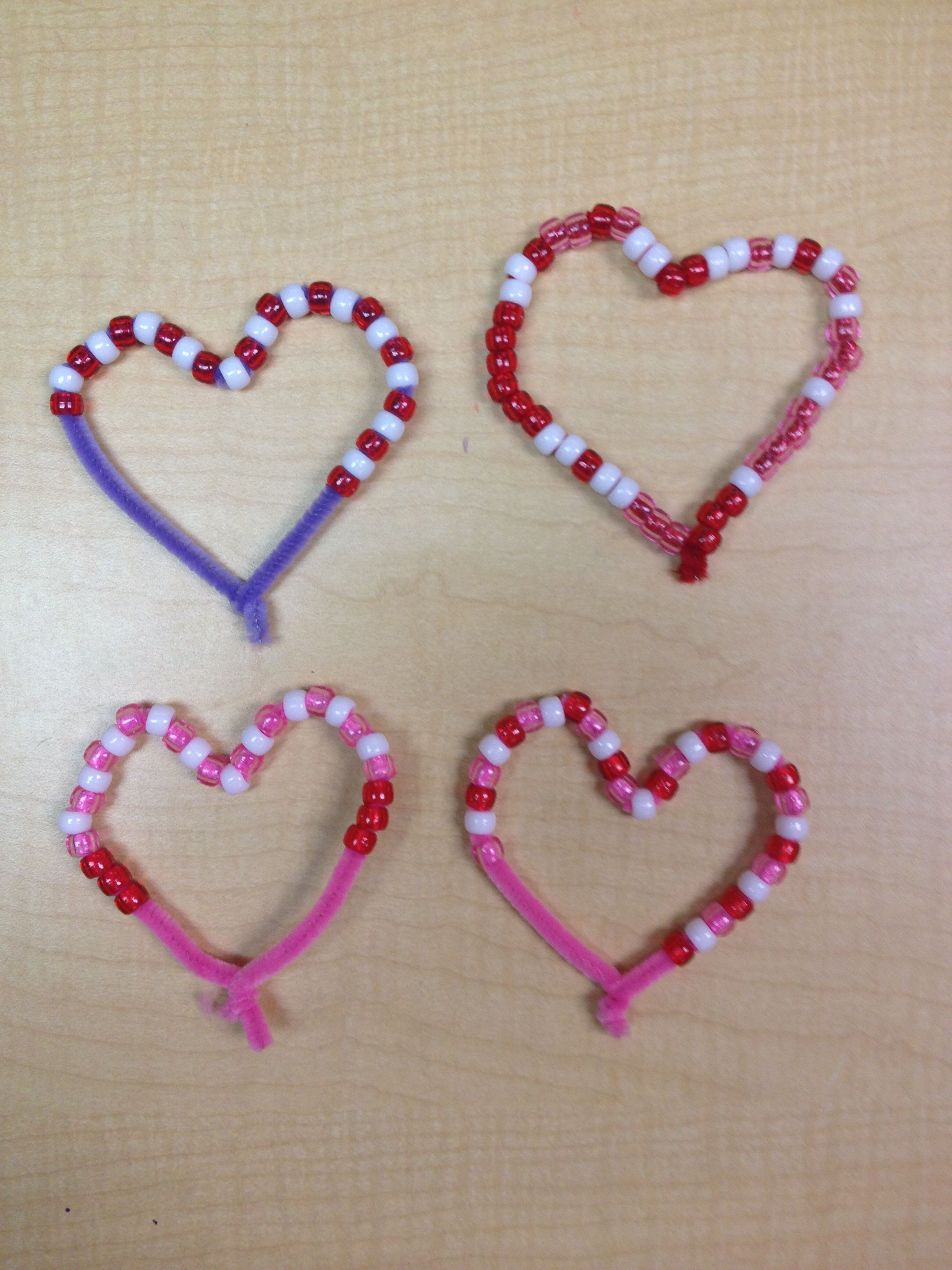 Valentine Bead Patterns With Pipe Cleaners Preschool