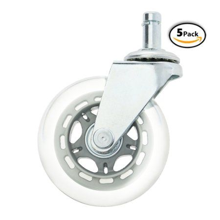 Office Chair Wheels Replacement Rubber Chair Casters For Hardwood