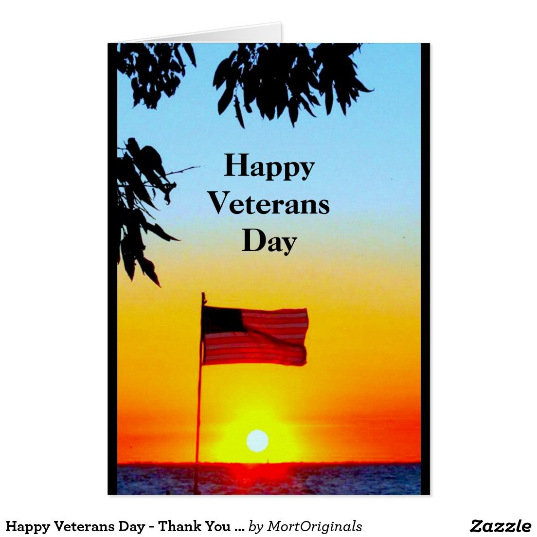 Happy Veterans Day Thank You For Your Service Card Mortoriginals