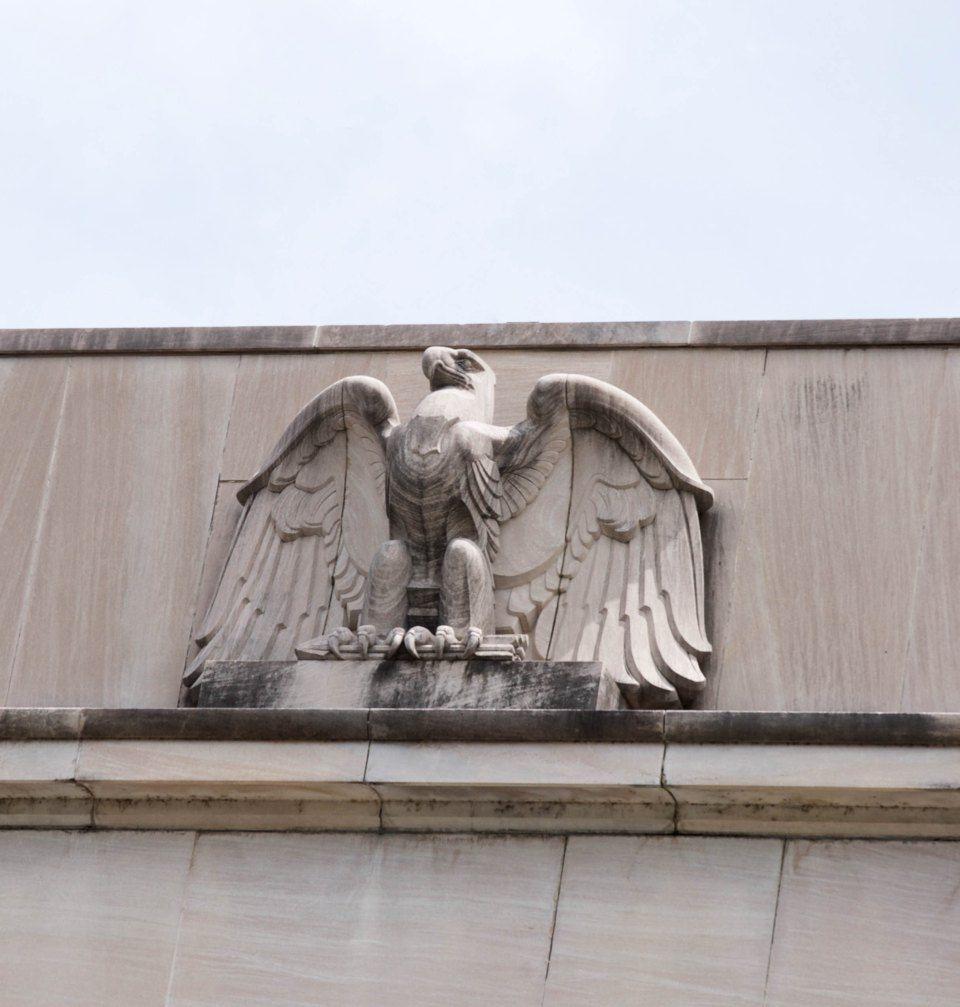 eagle sculpture - Columbia TN US Post Office - The PWA Moderne ...