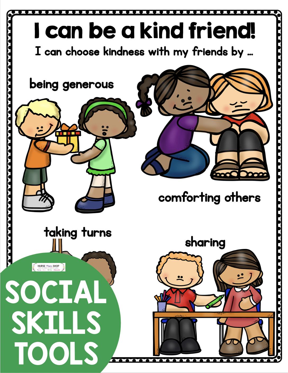 FREE Social Skills Printables in 2020   Social skills ...