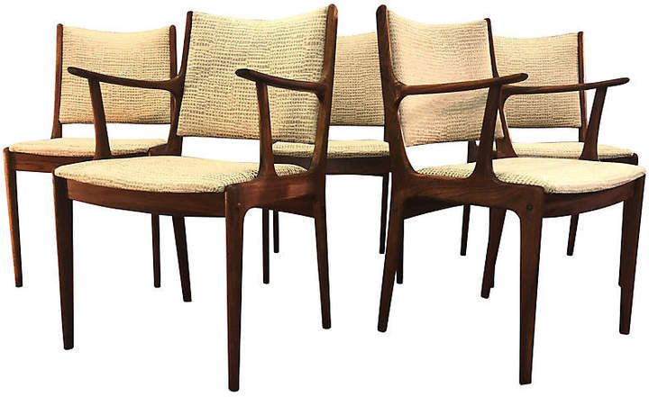 2 B Modern Danish Rosewood Dining Room Chairs Set Of 5
