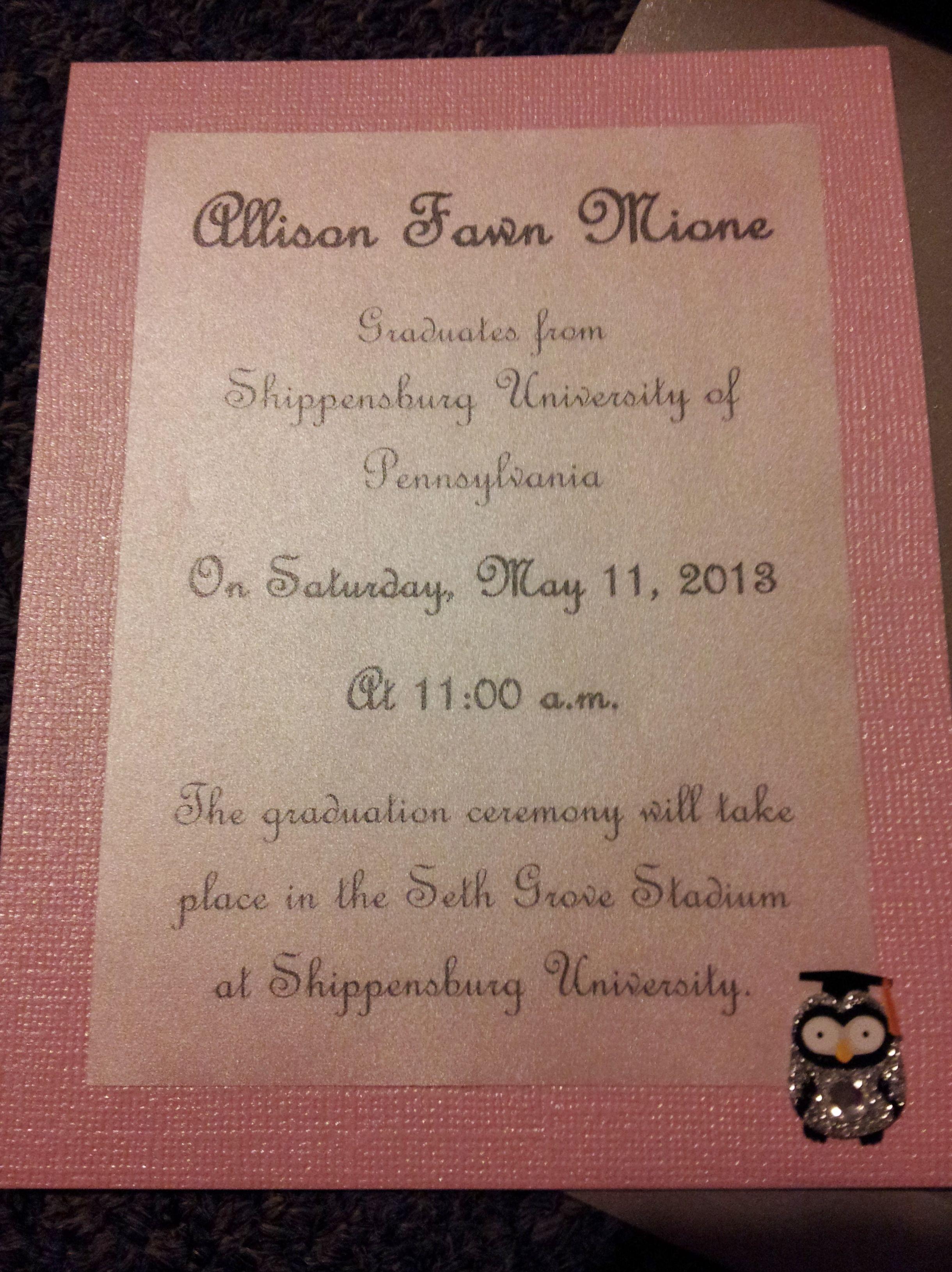 Graduation Announcement I Can Also Make Invitations