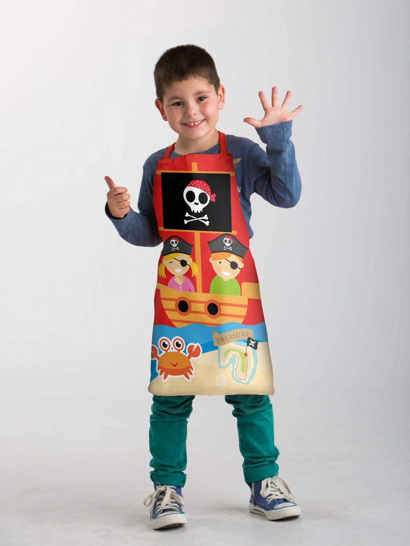 Delantal Infantil Pirata