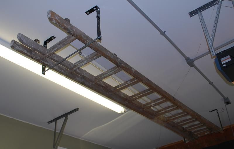 Ladder Hooks For Ceiling Extension Ladder Hanging Ideas