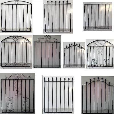 BLACK WROUGHT IRON METAL GARDEN GATE SMALL GATES MODERN WALL STEEL 10  STYLES | Garden Gates | Garden Fencing