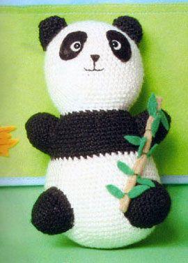 Amigurumis en español. Patron oso panda
